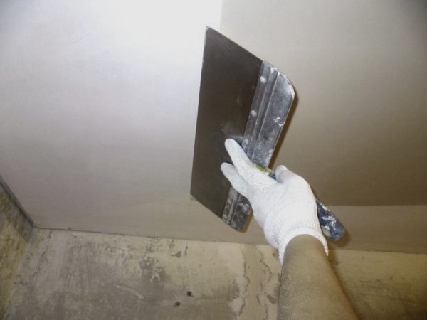 Шпаклёвка потолка из гипсокартона своими руками